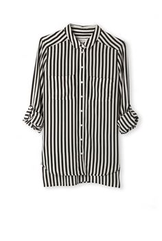 Country Road   Stripe Silk Shirt   $169