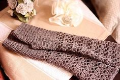 (4) Name: 'Crocheting : Melange Fingerless Gloves
