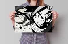 Fairy Tail Natsu Anime Manga Watercolor Poster Art by GeekPosters
