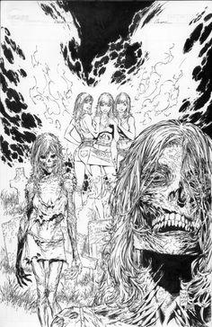 Phoenix Warsong 2 Cover by on DeviantArt Arte Zombie, Zombie Art, Tattoo Henna, Tatoo Art, Zombie Drawings, Art Drawings, Arte Horror, Horror Art, Ink Illustrations