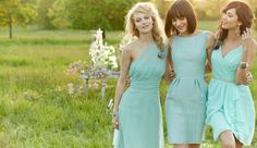 bf0111d4633 BLue bridesmaids dresses by Jim Hjelm. Mira Bridal Couture