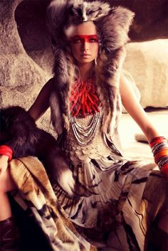 Beautiful tribal styling.✿⊱╮