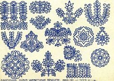 czech batik eggs  | WIDE BAND PATTERNS: 200 Year Old English Regency Era Patterns-PDF file