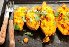 Sweet Potatoes Stuffed with Curried Vegetables - Healthy and Delicious.