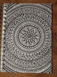 Zentangles/Doodles - something to do with those blank notebook covers mandala doodle, mandala Mandala Doodle, Mandala Art, Mandala Drawing, Zentangle Drawings, Doodles Zentangles, Zentangle Patterns, Doodle Drawings, Doodle Art, Doodle Inspiration