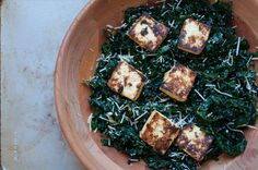 miso kale salad with miso roasted tofu - Marin Mama Cooks