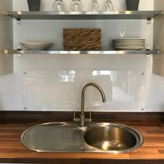 There are many uses for the plastic we sell here at The Plastic People. Get inspiration for clear acrylic splashbacks from our customer stories! Clear Acrylic Sheet, Acrylic Sheets, Acrylic Plastic, White Kitchen Cabinets, Kitchen Backsplash, Kitchen Sink, Clear Perspex, Clear Glass, Hob Splashback