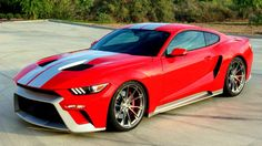 This custom Mustang by Zero 60 Design riffs on the upcoming Ford GT supercar's styling.