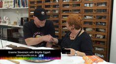 Art Gilding - Karl & Brigitte Eggert Shown on Colour In Your Life Artist Art, Art Techniques, Tv Shows, Colour, Life, Color, Colors