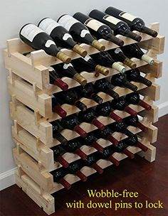 36 Bottle Capacity Stackable Storage Wine Rack WobbleFree WN36 *** To view further for this item, visit the image link.