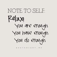 Little Presents: NOTE TO SELF:You are enough
