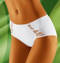 WOLBAR Megi - Culotte femme noir blanche qualité lingerie sous vetements