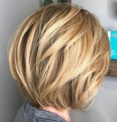 Rounded Bob with Dimensional Layers