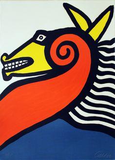 "Alexander Calder, American, 1898-1976, ""Horse"", 1975, Lithograph, Bequest of the Nachmann-Welbourn Trust"