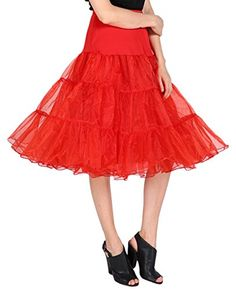 "Dressystar Women 50's Vintage Rockabilly Petticoat 26"" Length Swing Underskirt ** More details @ http://www.amazon.com/gp/product/B00XHR9GIU/?tag=lingeriedirect-20&pno=200716014843"