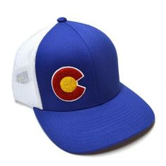 This Royal Blue Colorado flag C hat will have you feeling like a monarch once you put it on. It's a structured trucker hat with the perfect curves, clean lines, an adjustable snap back, and an ever-so
