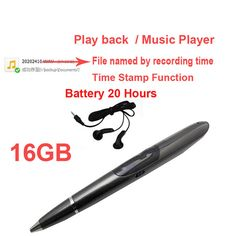 >> Click to Buy << S1 16G music player pen MP3 player supprt voice recorder w/ time stamp voice activated battery 20H audio recorder audio player #Affiliate