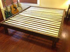 Build a platform bed.