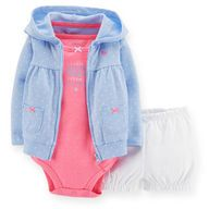 3-Piece Cardigan & Bubble Short Set