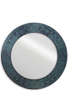 Зеркало в русском стиле LADOGA ROUND Green в деревянной раме в зелено-черных тонах станет превосходным дополнением к туалетному столику и будет отлично смотреться в дуэте с консолью в прихожей. Catalog, Frame, Green, Picture Frame, Brochures, Frames