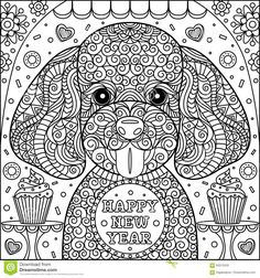 Cute Puppy Coloring Page - Download From Over 61 Million High Quality Stock Photos, Images, Vectors. Sign up for FREE today. Image: 94315429