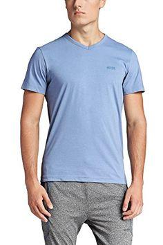 Hugo Boss Mens Teevn Shirt Periwinkle, Size XXXL. V-neck. Raised logo at chest, back shoulder. Back length: 69 cm (27.2 in.). 100% Cotton.