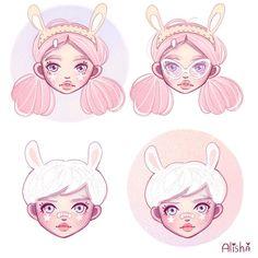 Bunny girls close up