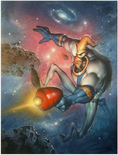 Earthworm Jim Concept Art and Paintings by the original video game team at Shiny Entertainment | Lemm's Earthworm Jim Fan Site - Rocket Worm...