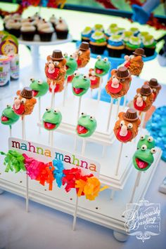 Amazing Muppet Show cake pops