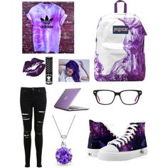Untitled #63 by stephaniehuts on Polyvore featuring Miss Selfridge, JanSport, Speck, Bling Jewelry, Manic Panic and Loma