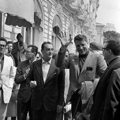 Luchino Visconti di Modrone, Count of Lonate Pozzolo and Burt Lancaster.