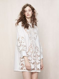 Dress with openwork embroidered insets - Spring Collection - Maje.com