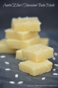 Auntie Ellen's Butter Mochi gluten free is a Hawaiian treat that is easy to make at home. #glutenfree #dairyfree