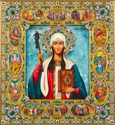 St. Nina Icon with Scenes - OrthodoxGifts.com