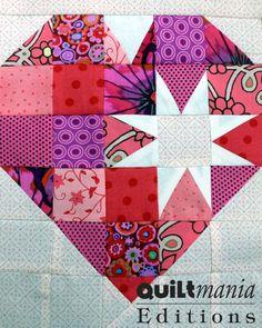 Bloc 7 - Block 7  Découvrez ce bloc GRATUIT avec son patron sur Quiltmania.fr. Let's discover this FREE block (and its pattern) on quiltmania.com