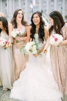 Pure bridal bliss: http://www.stylemepretty.com/2016/02/23/glam-san-francisco-city-hall-wedding/ | Photography: This Love Of Yours - http://thisloveofyours.com/