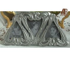 3c1a7a85af5 Easel Frame Fine Pewter Metal Small Abstract Asymmetrical Elias Artmetal  1820 photograph picture eps