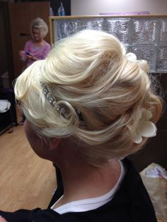 #bridalupdo #bridal #hair by Libbey. Talking Heads Salon in Grimes, IA. (515) 986-2929