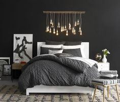Design tip: Decorate with black and white to create depth and texture