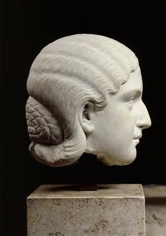 Barbia Orbiana, head of Roman statue (marble), 3rd century AD