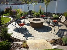 Paver patio and natural gas fire pit