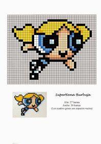 Handmade & DIY: Free Hama Beads Pattern by Soniation - Anime Melty Bead Patterns, Hama Beads Patterns, Beading Patterns, Loom Patterns, Loom Beading, Perler Bead Templates, Diy Perler Beads, Beaded Cross Stitch, Cross Stitch Patterns