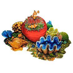 Coral Reef B - Pool Mosaic Glass Mosaic Tiles, Stone Mosaic, Tile Mosaics, Painted Pavers, Painted Rocks, Swimming Pool Mosaics, Swimming Pools, Adhesive Tiles, Colorful Fish