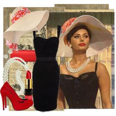 Sophia Loren, created by tugce on Polyvore