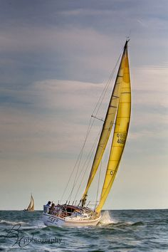 Sailboat races off the coast of Hyannis, MA (Cape Cod)
