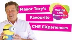 Mayor John Tory holding a Minion