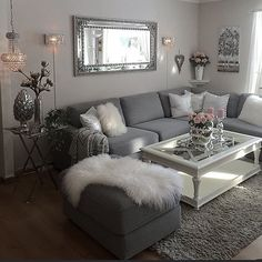 46 Magnificent Apartment Living Room Decorating Ideas On A Budget - Diy Wohnzimmer Living Room Grey, Rugs In Living Room, Living Room Designs, Apartment Living Rooms, Living Room Decor Grey Couch, Living Room Themes, Cozy Apartment, Grey Home Decor, Living Room Goals