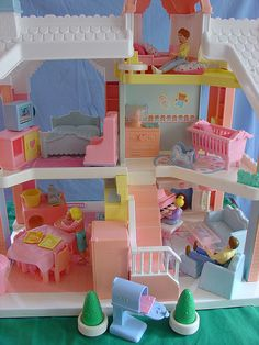 Playskool playhouse. I still have mine, although I never got all the accessories and extras. Just some of them!