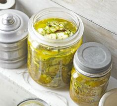 Crunchy courgette pickle sub shallots for FODMAP