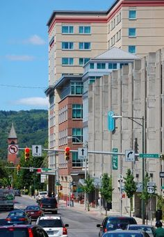 Downtown Ithaca, New York (makes it almost look like a real city)